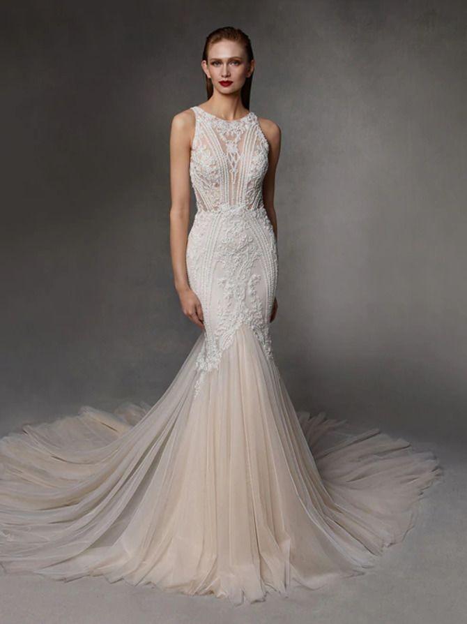 Как принцесса: пышные свадебные платья 2020-2021 13