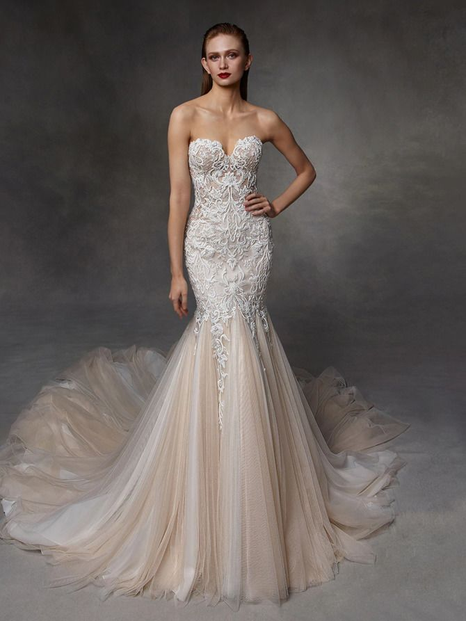 Как принцесса: пышные свадебные платья 2020-2021 14