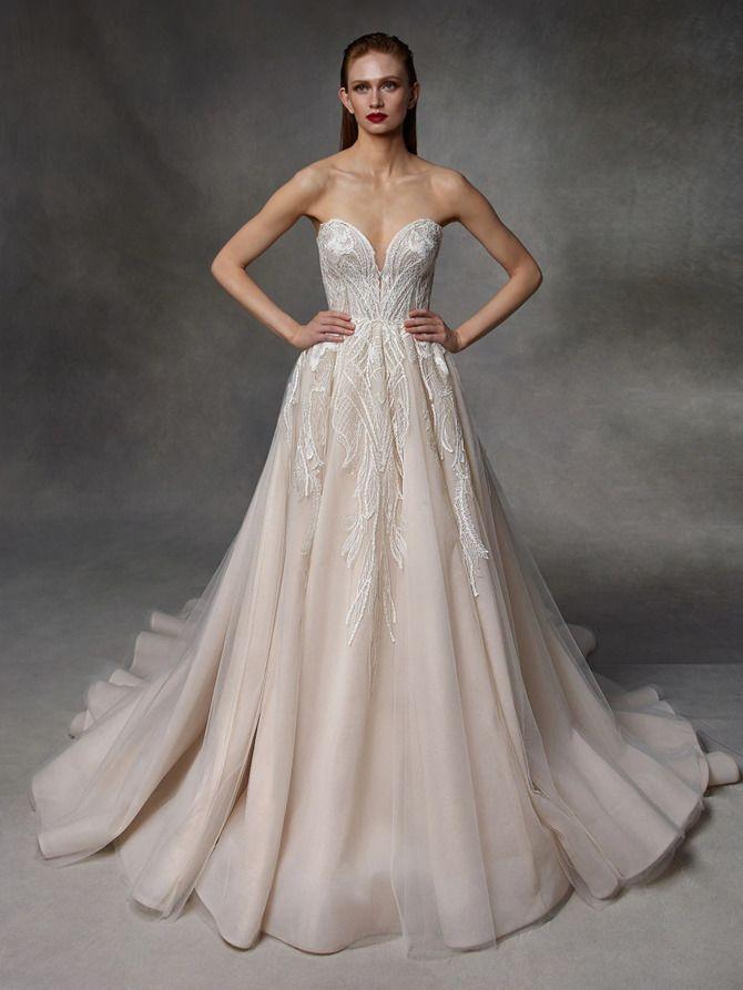 Как принцесса: пышные свадебные платья 2020-2021 15