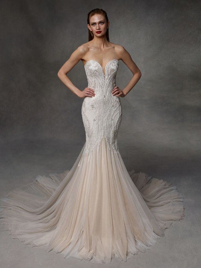 Как принцесса: пышные свадебные платья 2020-2021 16