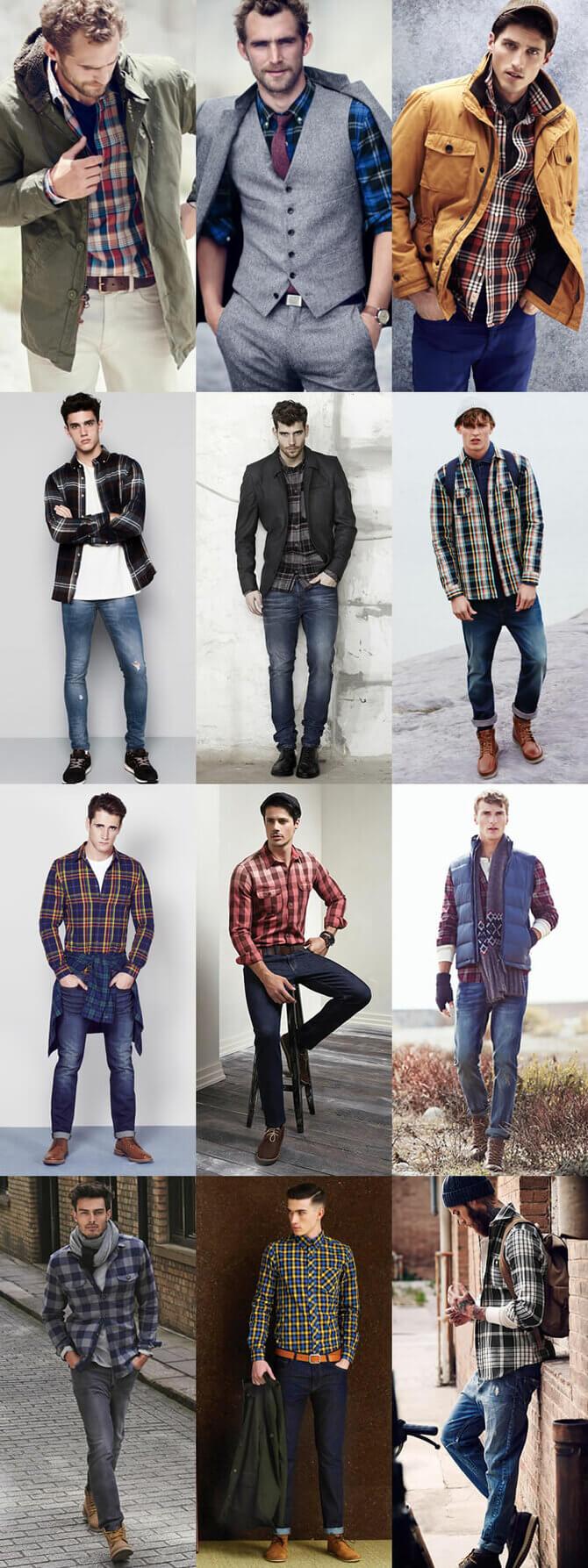 Фланелевые рубашки для мужчин – яркие образы 2020-2021 12
