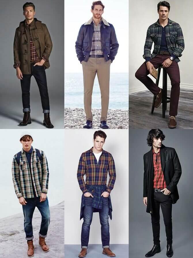 Фланелевые рубашки для мужчин – яркие образы 2020-2021 13