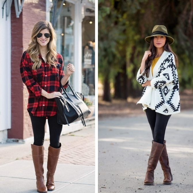 С чем носить леггинсы этой осенью, чтоб оставаться стильной 12