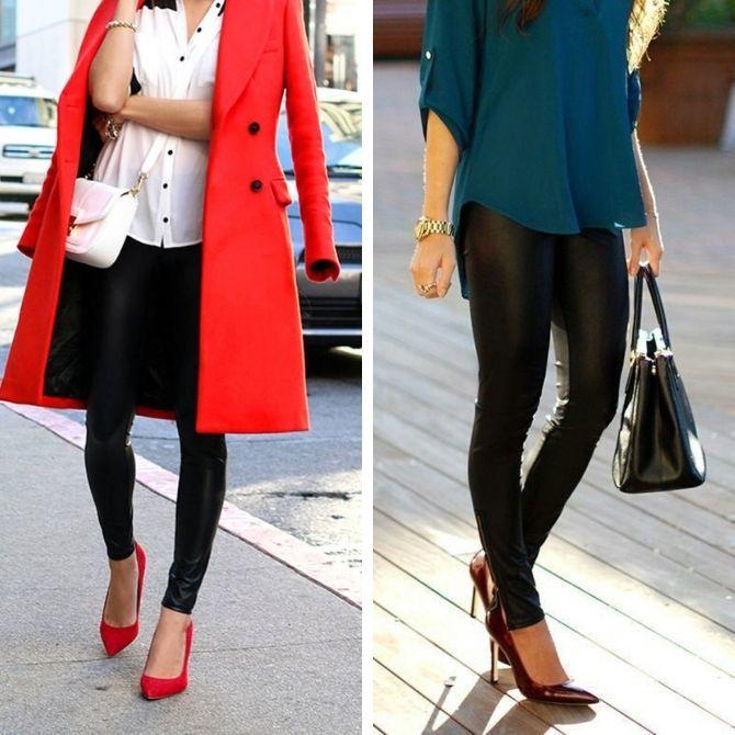 С чем носить леггинсы этой осенью, чтоб оставаться стильной 13