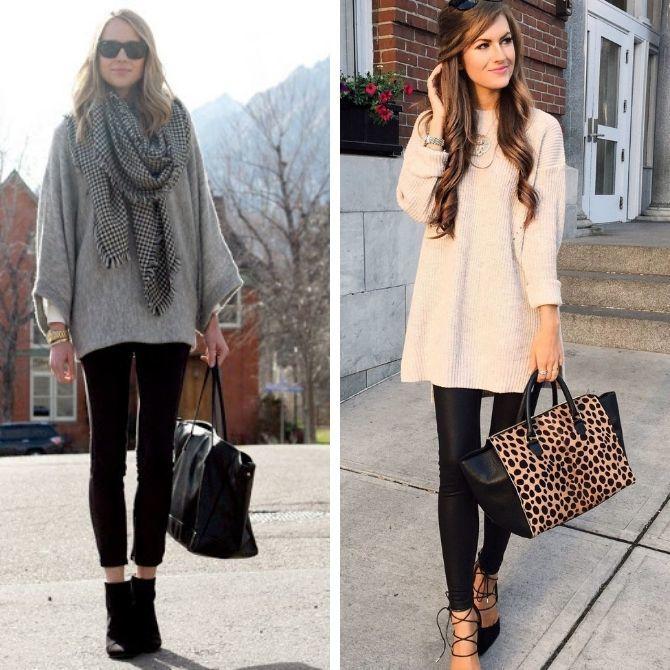 С чем носить леггинсы этой осенью, чтоб оставаться стильной 6