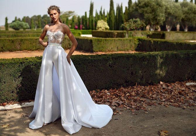 Свадебные комбинезоны — лучшие идеи для смелых невест 2