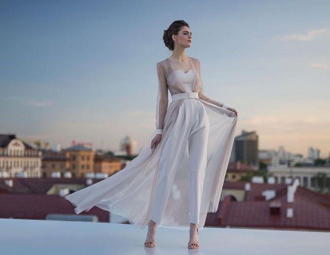 Свадебные комбинезоны — лучшие идеи для смелых невест 15