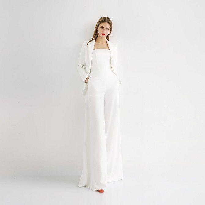 Свадебные комбинезоны — лучшие идеи для смелых невест 16