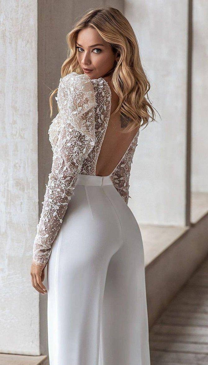Свадебные комбинезоны — лучшие идеи для смелых невест 19