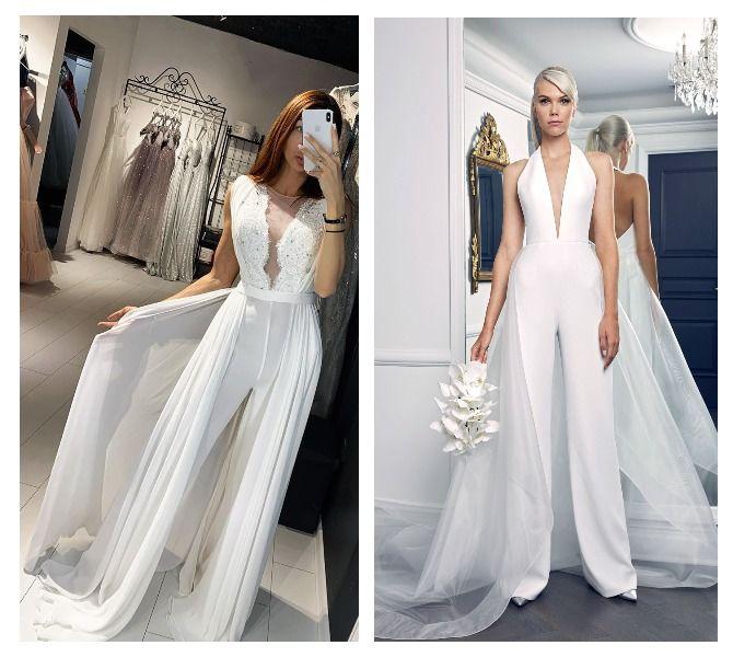 Свадебные комбинезоны — лучшие идеи для смелых невест 3