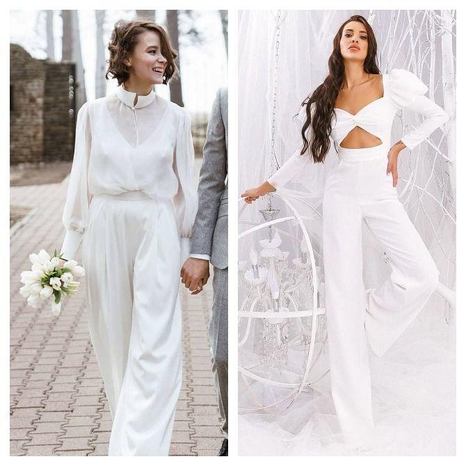 Свадебные комбинезоны — лучшие идеи для смелых невест 10