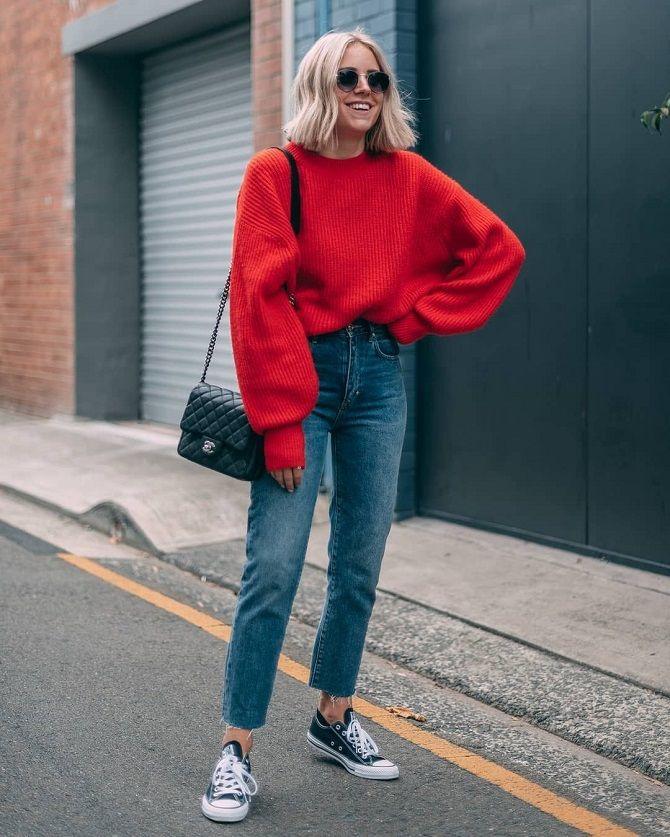 Кращі осінні образи зі светрами 10