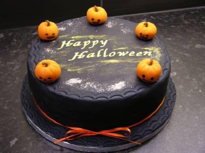 Торт на Хэллоуин: варианты украшения «ужасного» десерта 2