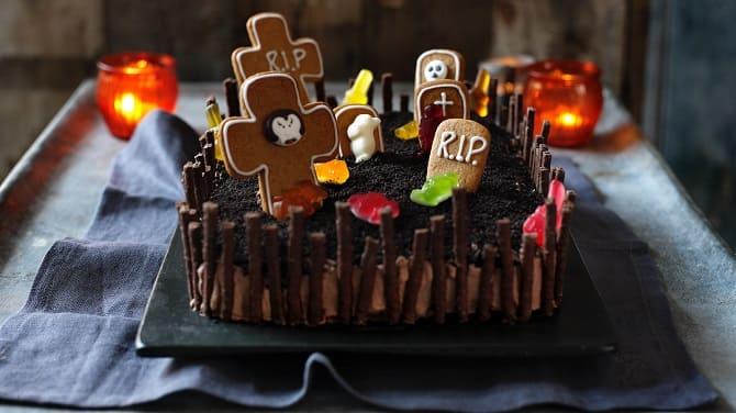 Торт на Хэллоуин: варианты украшения «ужасного» десерта 3