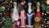 Как украсить бутылку шампанского на Новый год: 5+ интересных идей