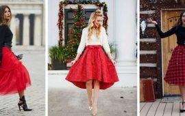 Красные юбки — с чем сочетать, чтобы выглядеть красиво
