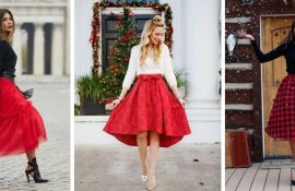 З чим носити червону спідницю: поради по стилю