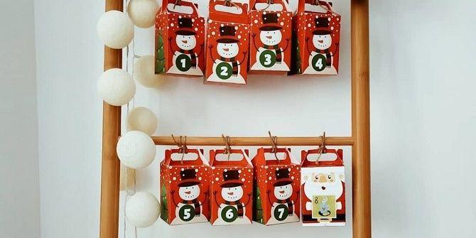Адвент-календарь своими руками для детей: лучшие идеи с примерами 3