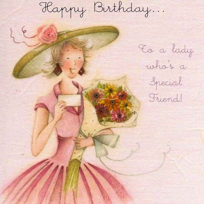 Colorful happy birthday cards and greetings to a woman with images, poems and prose 6