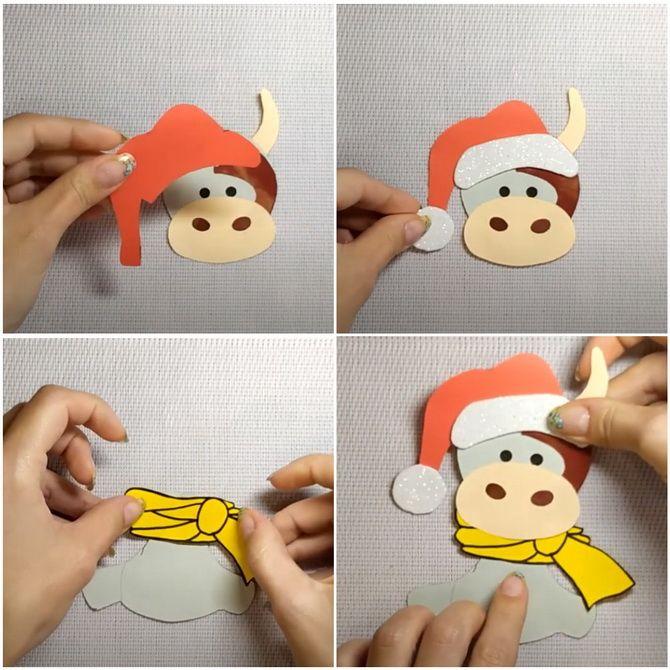 Створюємо новорічні листівки своїми руками: прості майстер-класи 10