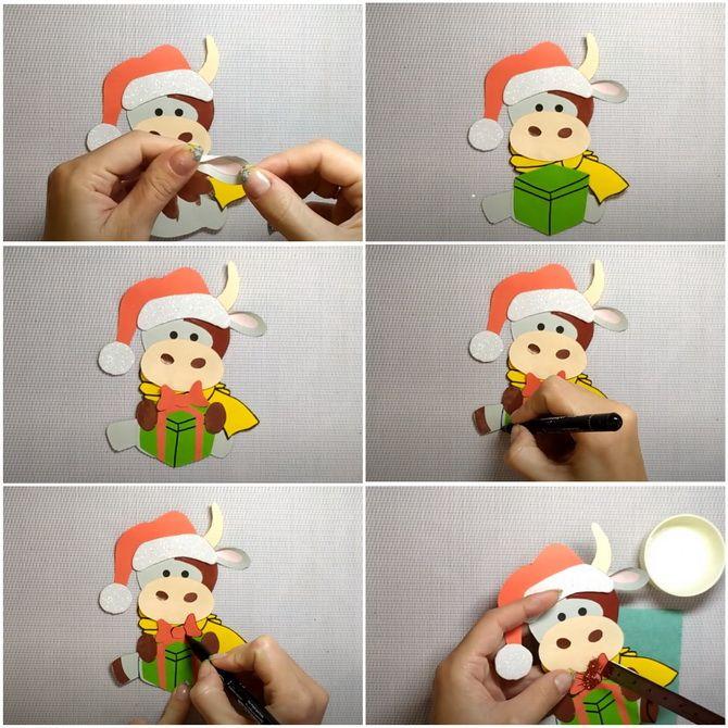 Створюємо новорічні листівки своїми руками: прості майстер-класи 11