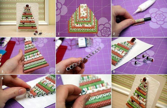 Створюємо новорічні листівки своїми руками: прості майстер-класи 13
