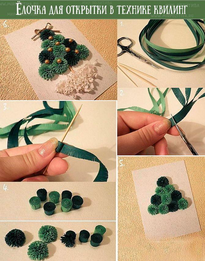 Створюємо новорічні листівки своїми руками: прості майстер-класи 17