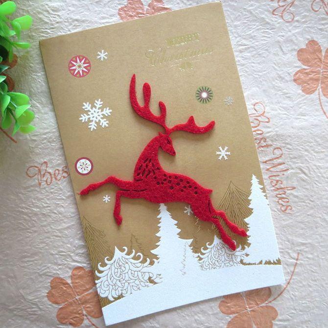 Створюємо новорічні листівки своїми руками: прості майстер-класи 22