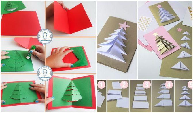 Створюємо новорічні листівки своїми руками: прості майстер-класи 5