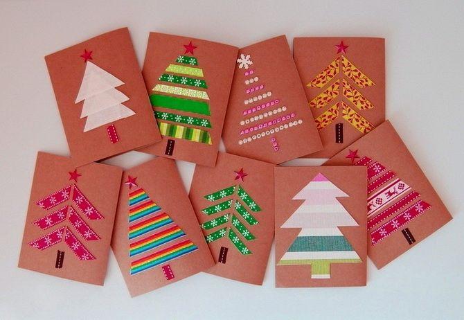 Створюємо новорічні листівки своїми руками: прості майстер-класи 7