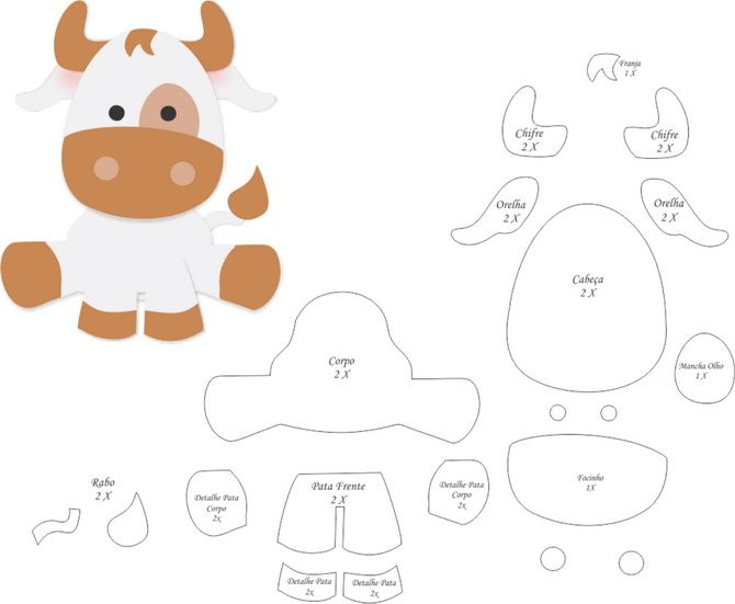 Символ Нового года 2021: поделка бык своими руками 27