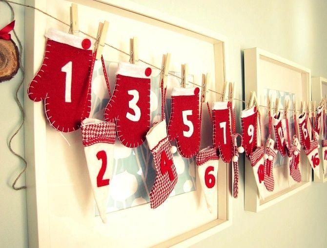 Адвент-календарь своими руками для детей: лучшие идеи с примерами 1