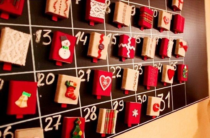 Адвент-календарь своими руками для детей: лучшие идеи с примерами 52