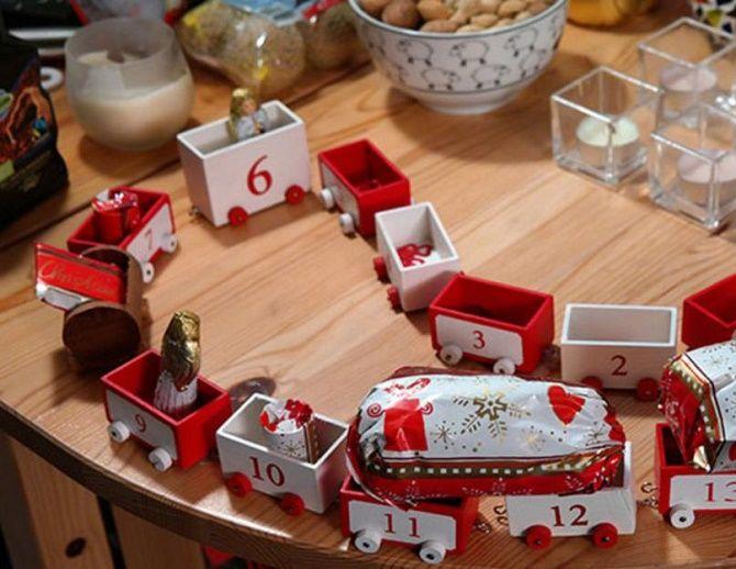 Адвент-календарь своими руками для детей: лучшие идеи с примерами 43