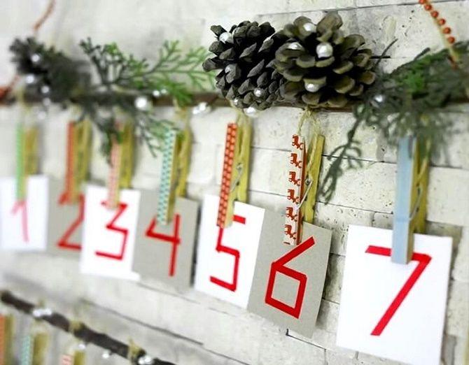 Адвент-календарь своими руками для детей: лучшие идеи с примерами 48