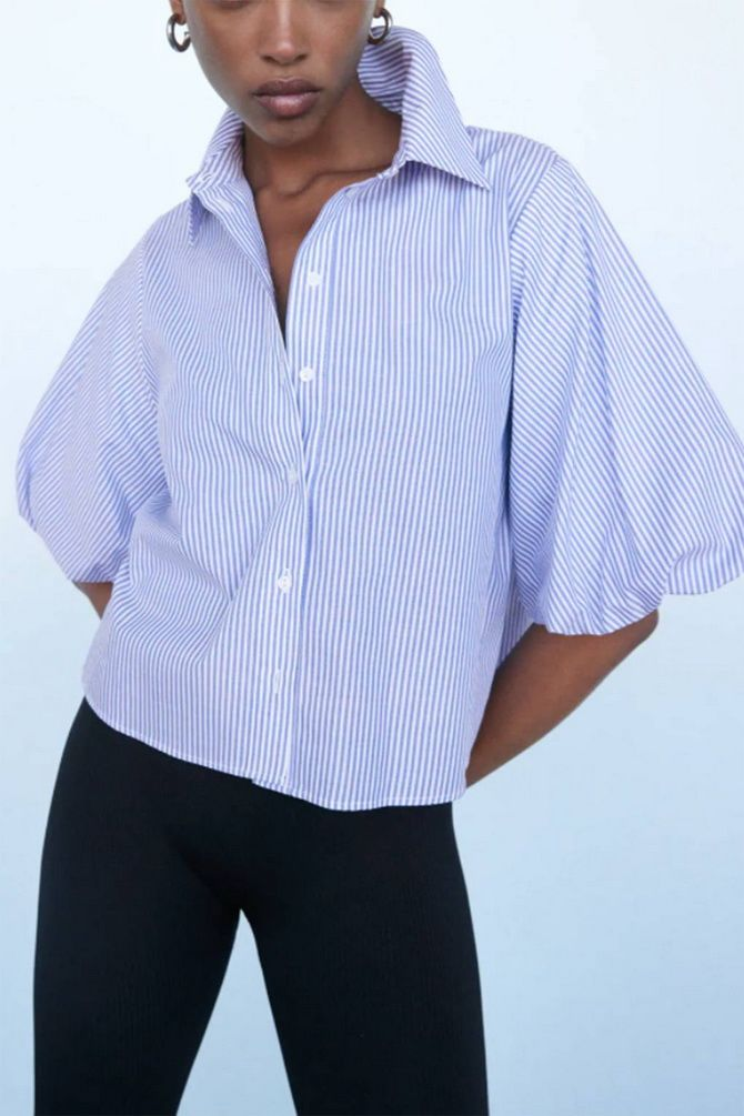 З чим носити блузи з об'ємними рукавами 23