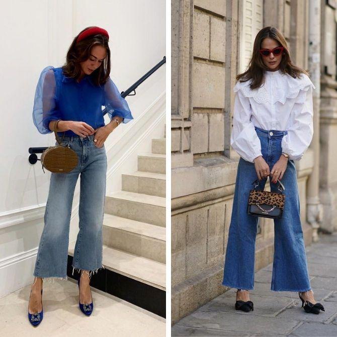 С чем носить блузы с объемными рукавами 9