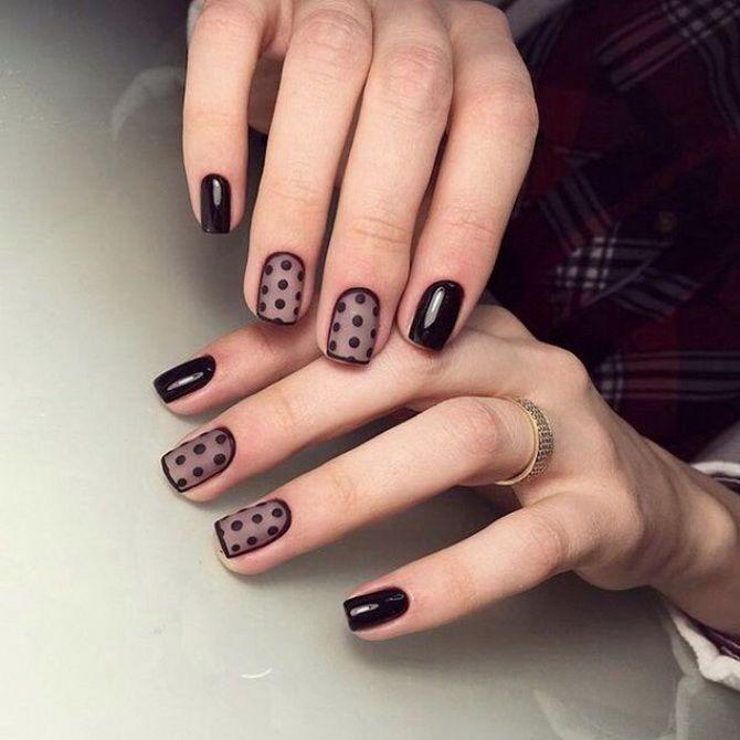 Бордовый дизайн ногтей на холодный сезон 24