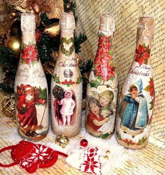 Как украсить бутылку шампанского на Новый год: 5+ интересных идей 2