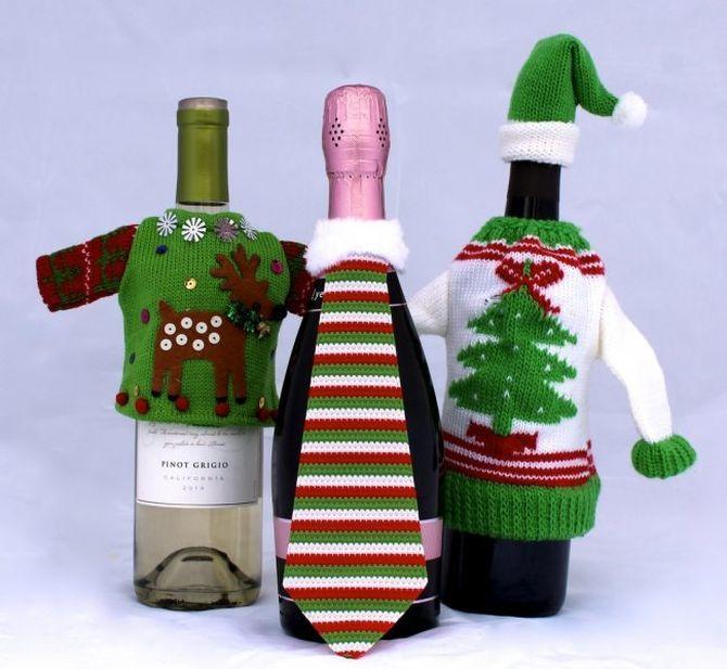 Как украсить бутылку шампанского на Новый год: 5+ интересных идей 14