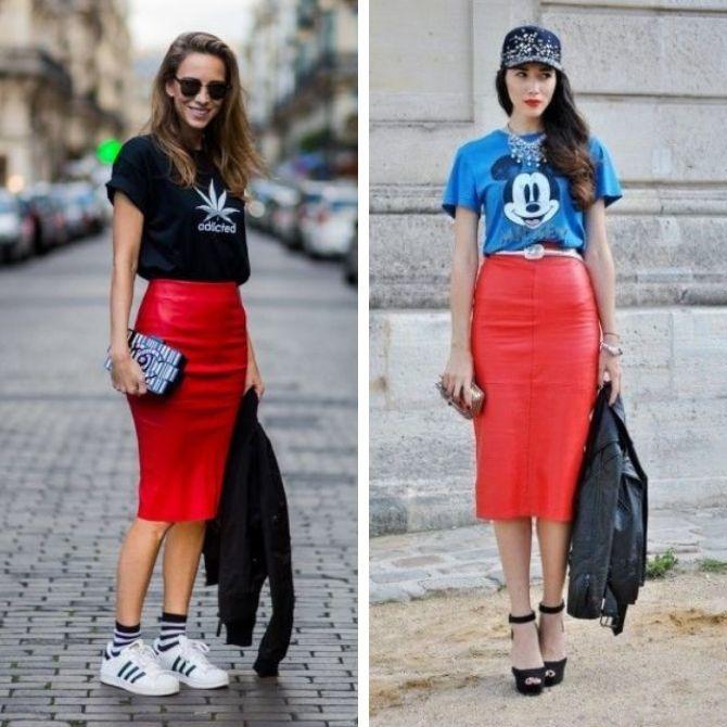 Красные юбки — с чем сочетать, чтобы выглядеть красиво 8