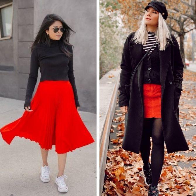 Красные юбки — с чем сочетать, чтобы выглядеть красиво 9