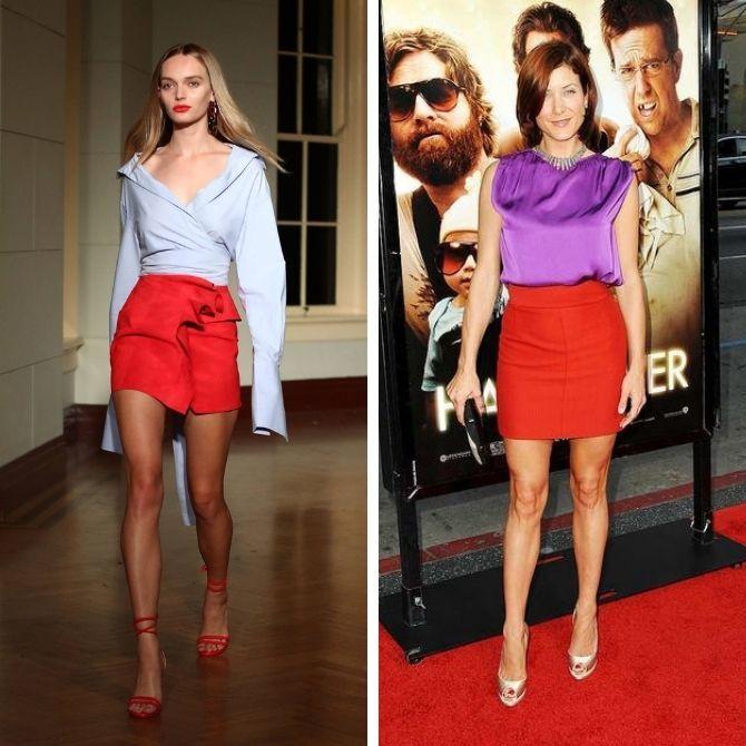 Красные юбки — с чем сочетать, чтобы выглядеть красиво 4