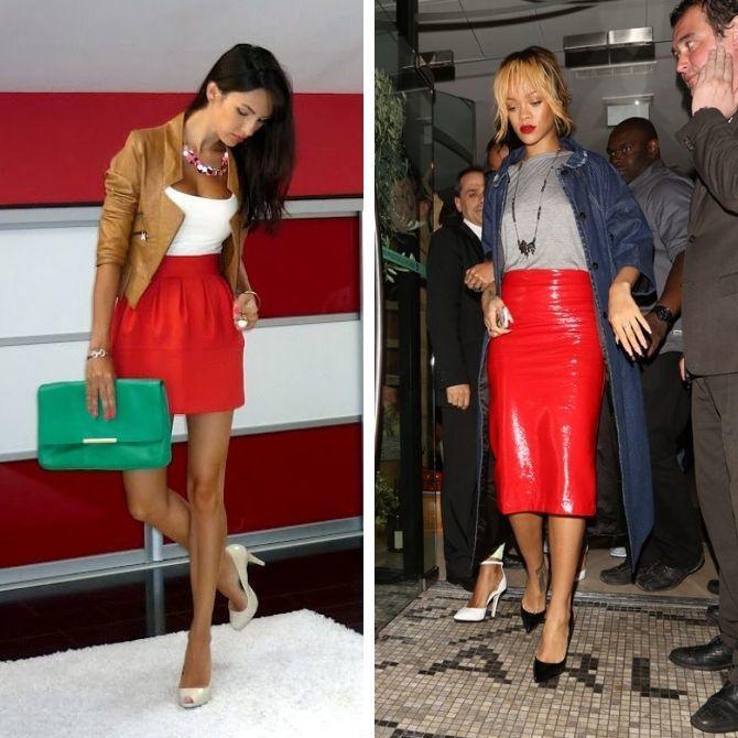 Красные юбки — с чем сочетать, чтобы выглядеть красиво 5