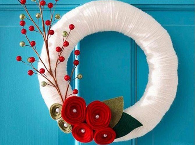 Кращі ідеї, як красиво і оригінально прикрасити двері на Новий рік 2021 18