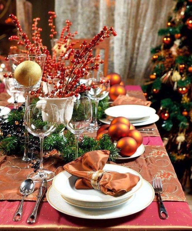 Як прикрасити новорічний стіл: кращі ідеї декору для зустрічі 2021 року 2