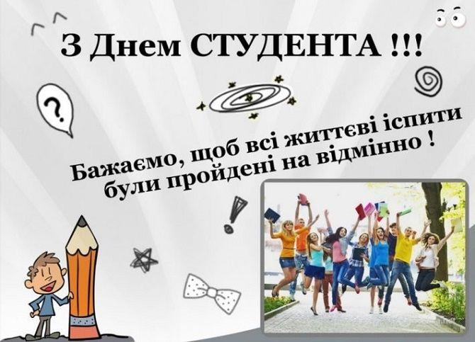 Привітання з Днем студента 2020
