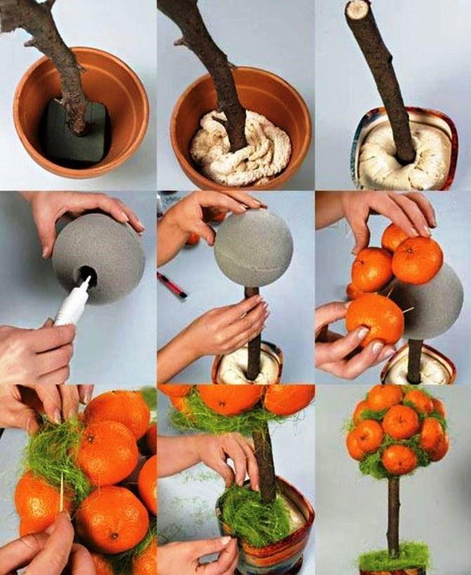 Новогодний декор из мандаринов: 7 необычных идей 7