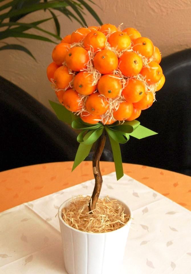 Новогодний декор из мандаринов: 7 необычных идей 6