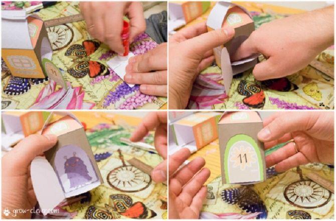 Адвент-календарь своими руками для детей: лучшие идеи с примерами 40